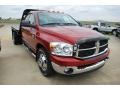 2007 Inferno Red Crystal Pearl Dodge Ram 3500 SLT Quad Cab Chassis  photo #14