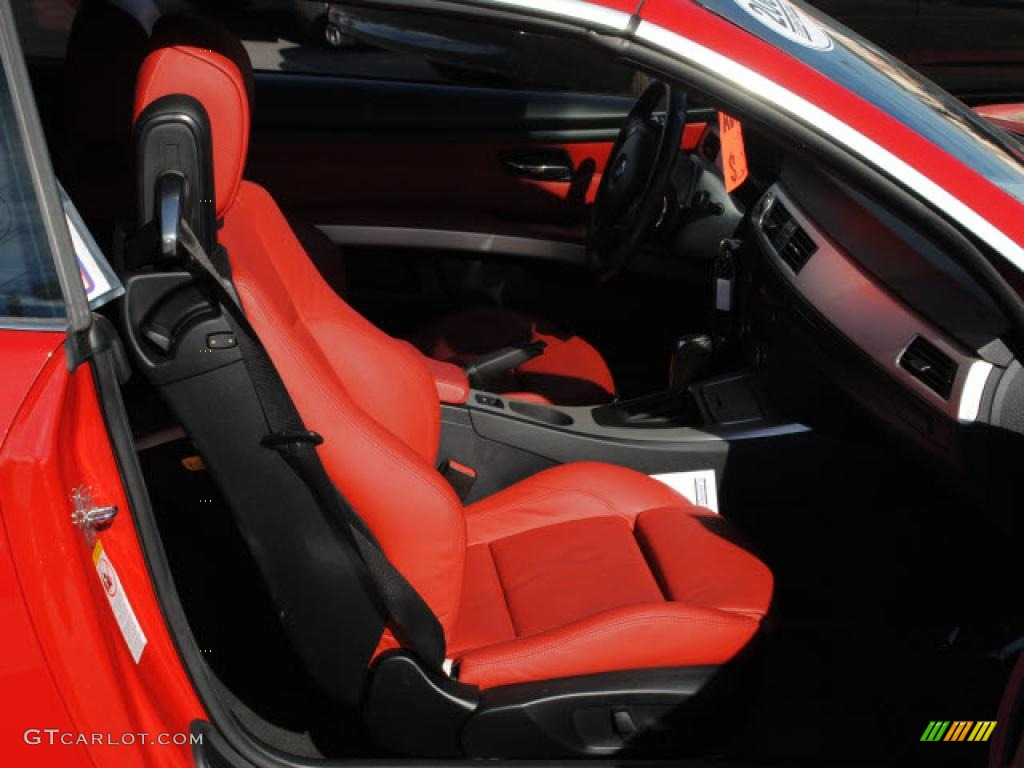 Coral Red Black Interior 2008 Bmw 3 Series 328i Convertible Photo 40860301
