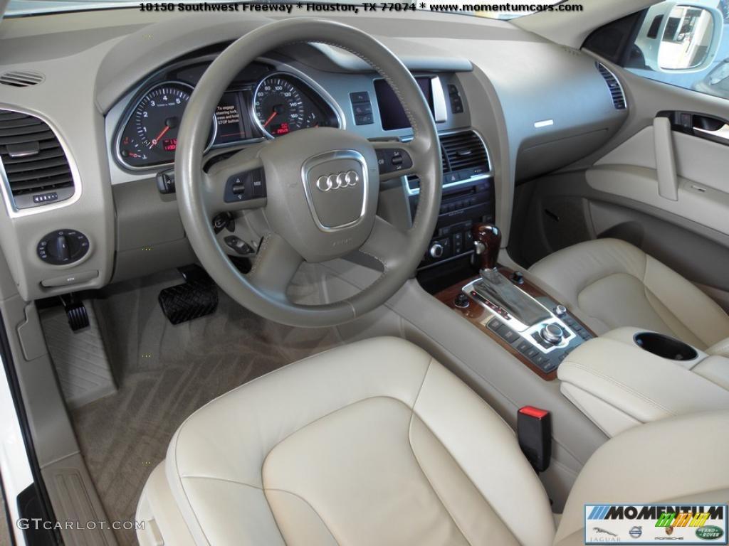 Cardamom Beige Interior 2008 Audi Q7 4 2 Premium Quattro