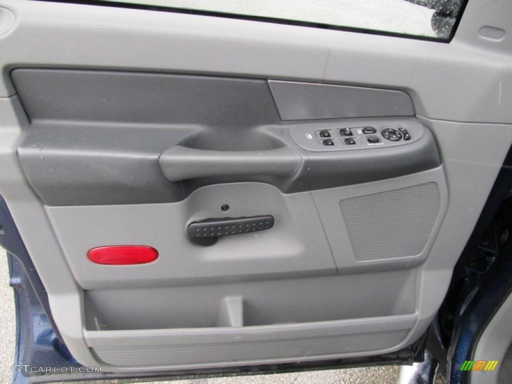 2008 Ram 1500 ST Quad Cab 4x4 - Patriot Blue Pearl / Medium Slate Gray photo #11