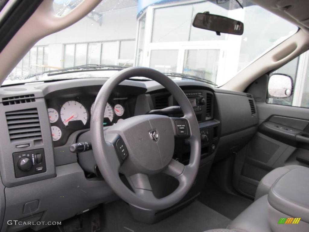 2008 Ram 1500 ST Quad Cab 4x4 - Patriot Blue Pearl / Medium Slate Gray photo #12