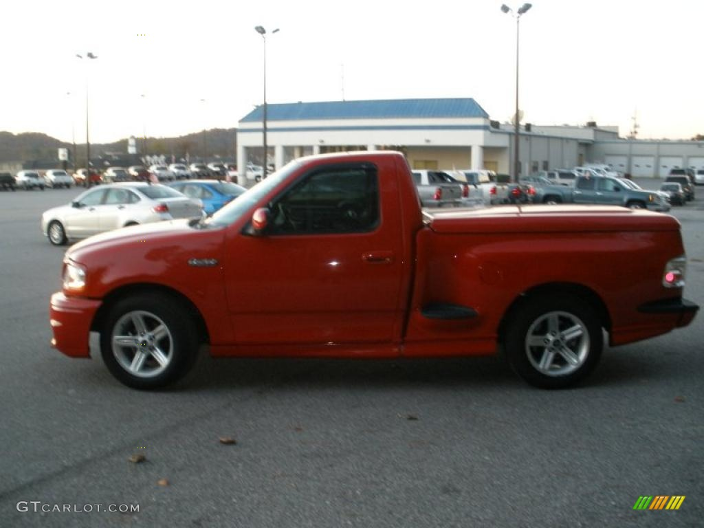 2003 ford f150 svt lightning bright red color black silver