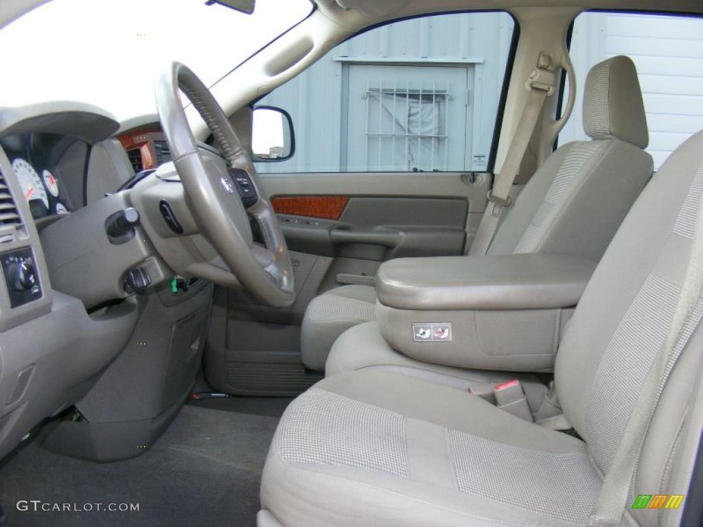 khaki beige interior 2006 dodge ram 1500 slt quad cab 4x4 photo 40872478. Black Bedroom Furniture Sets. Home Design Ideas