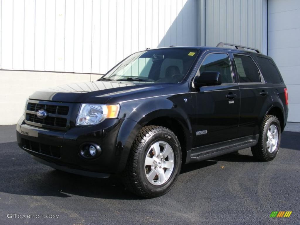 Black 2008 Ford Escape Limited 4wd Exterior Photo