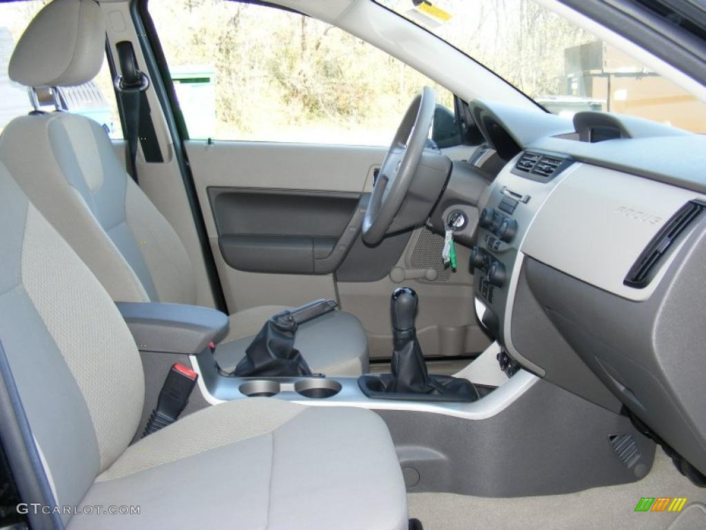 Medium Stone Interior 2008 Ford Focus S Sedan Photo 40877818