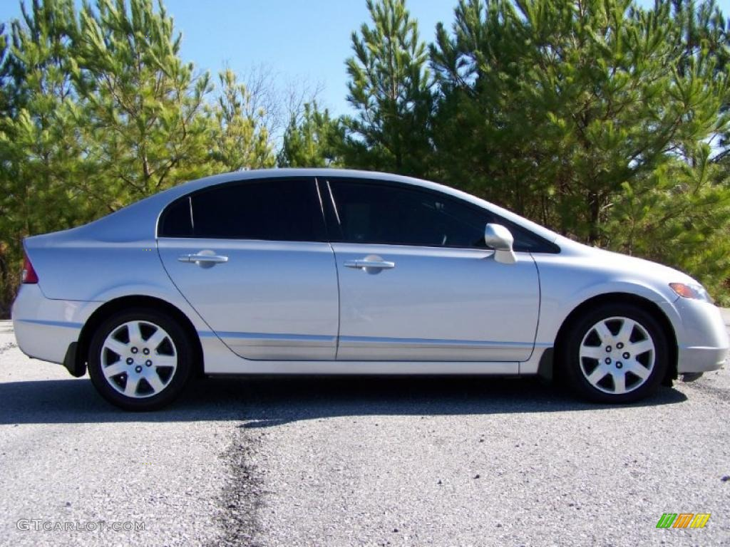 Alabaster Silver Metallic 2007 Honda Civic Lx Sedan Exterior Photo 40882693 Gtcarlot Com