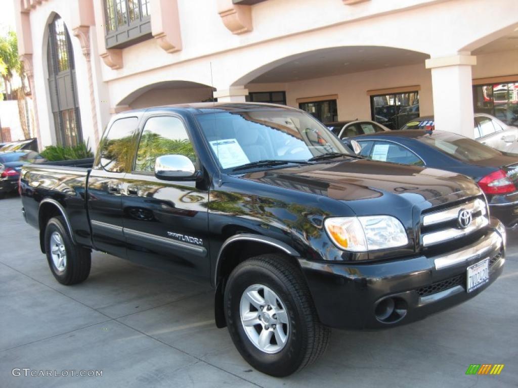 Black 2005 Toyota Tundra SR5 Access Cab Exterior Photo #40883341