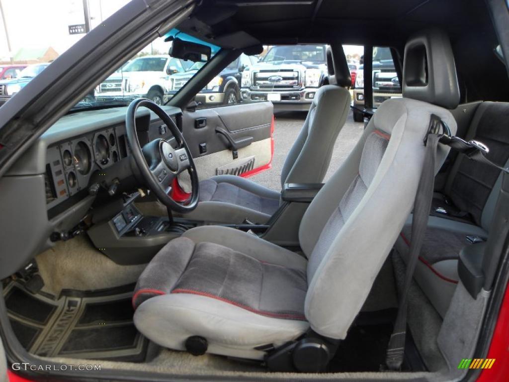 grey interior 1986 ford mustang gt convertible photo 40891121