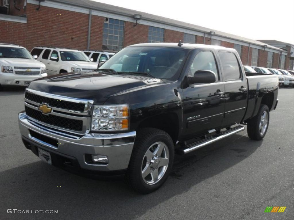 black 2011 chevrolet silverado 2500hd ltz crew cab 4x4 exterior photo 40891741. Black Bedroom Furniture Sets. Home Design Ideas