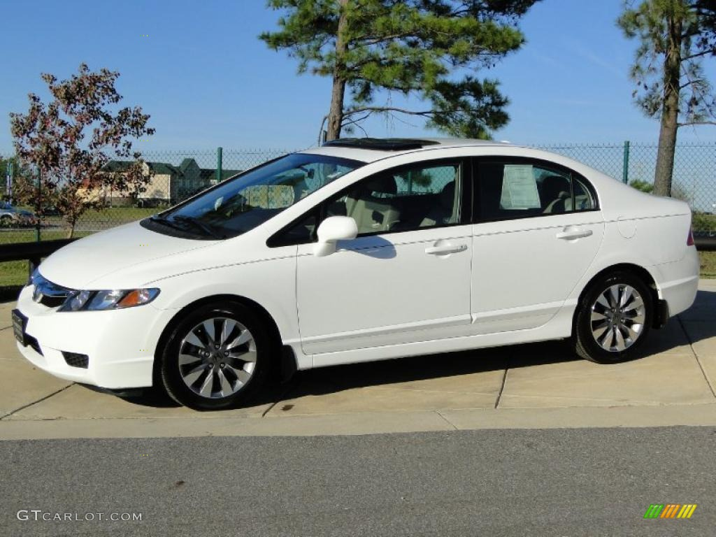 taffeta white 2009 honda civic ex l sedan exterior photo 40899377. Black Bedroom Furniture Sets. Home Design Ideas