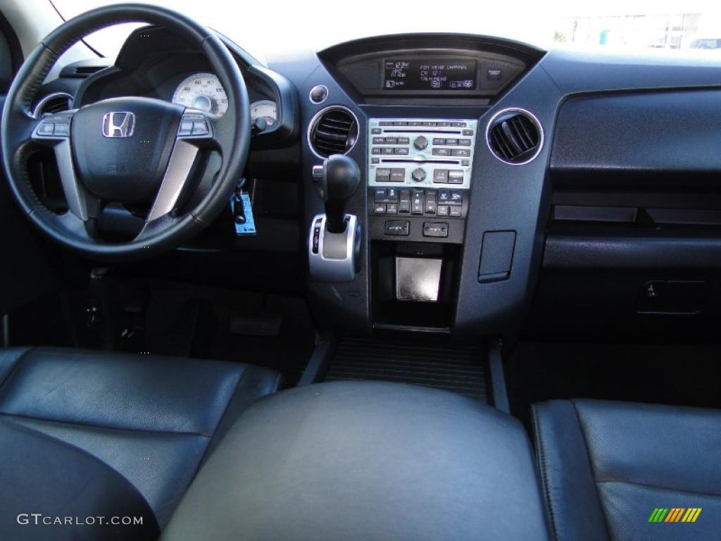 black interior 2009 honda pilot ex l photo 40902089