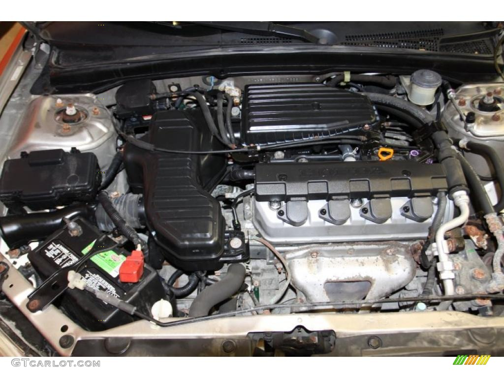 2002 Honda Civic LX Sedan 1.7 Liter SOHC 16-Valve 4 Cylinder Engine Photo #