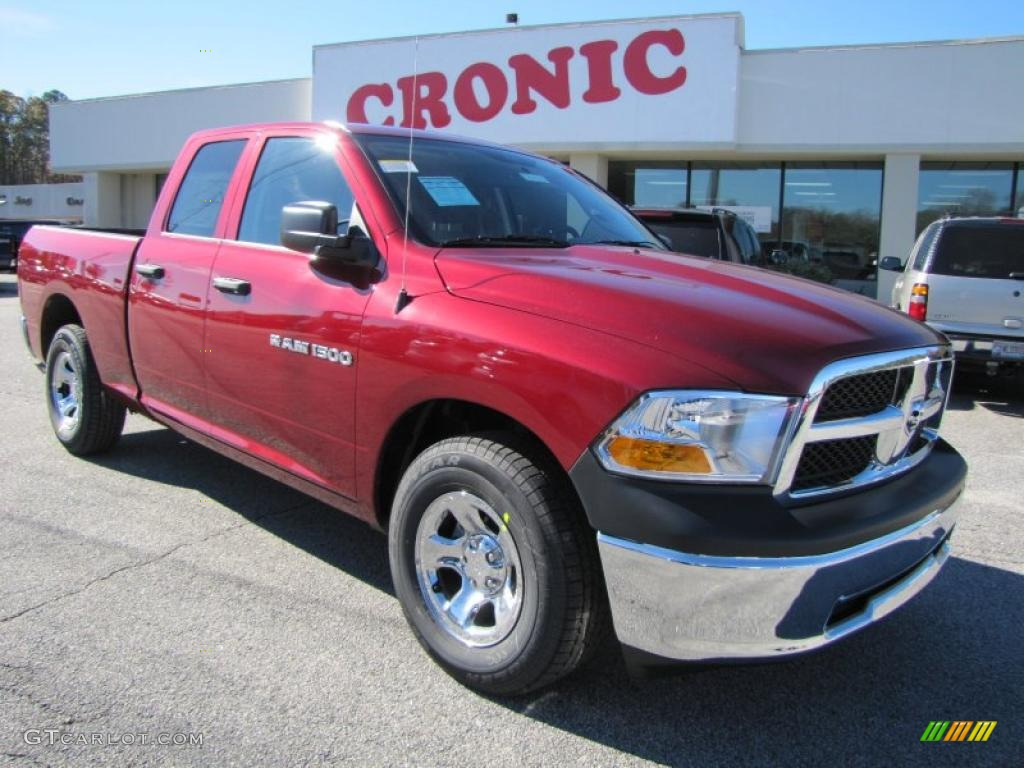 2011 Ram 1500 ST Quad Cab - Deep Cherry Red Crystal Pearl / Dark Slate Gray/Medium Graystone photo #1