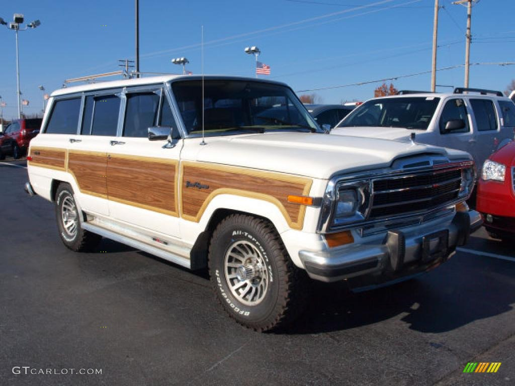 1991 bright white jeep grand wagoneer 4x4 40879062 photo. Black Bedroom Furniture Sets. Home Design Ideas