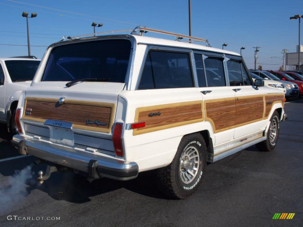bright white 1991 jeep grand wagoneer 4x4 exterior photo. Black Bedroom Furniture Sets. Home Design Ideas