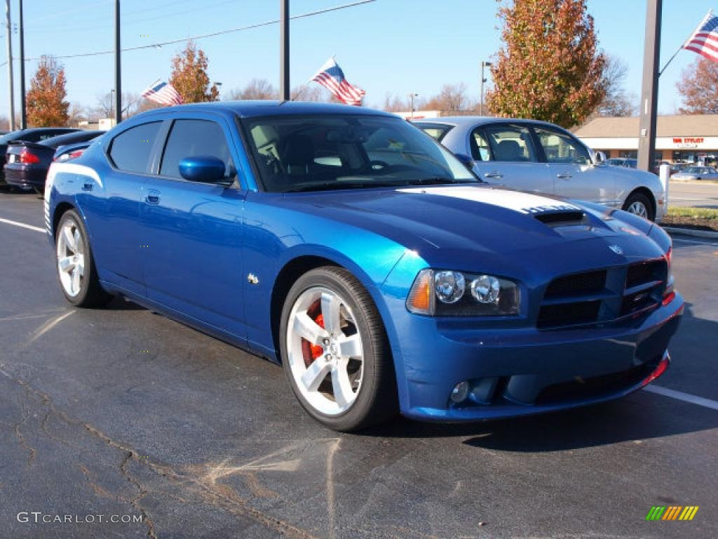 Deep Water Blue Pearl 2009 Dodge Charger Srt 8 Super Bee