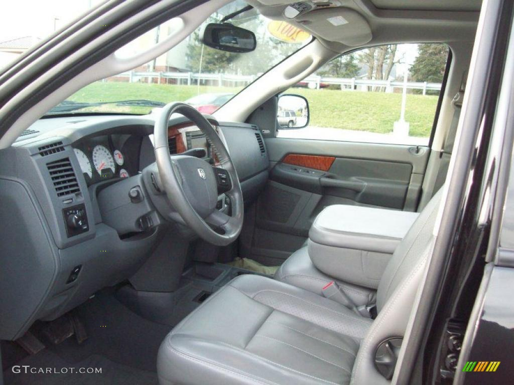 Medium Slate Gray Interior 2007 Dodge Ram 1500 Laramie Mega Cab 4x4 Photo 40918529 Gtcarlot Com