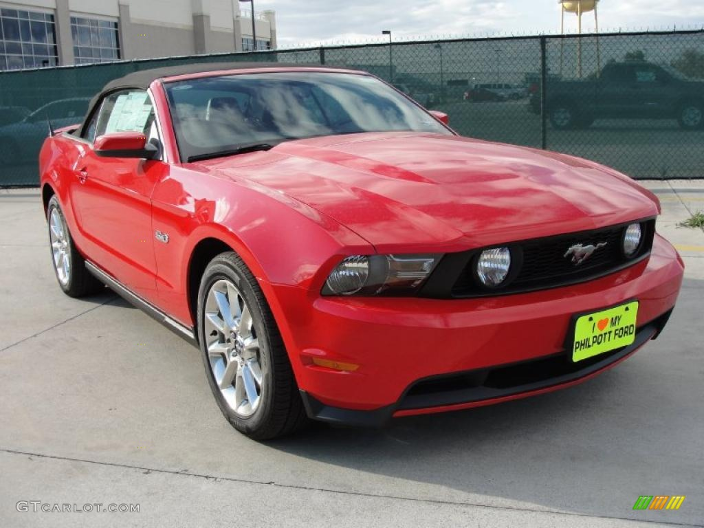 2011 Mustang GT Premium Convertible - Race Red / Charcoal Black photo #1