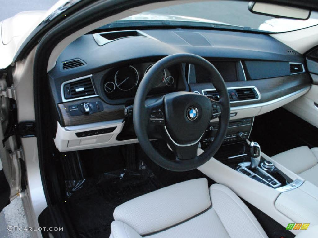 ivory white black nappa leather interior 2010 bmw 5 series 550i gran turismo photo 40933610. Black Bedroom Furniture Sets. Home Design Ideas