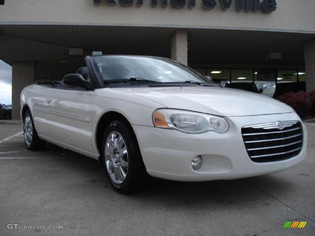 2004 stone white chrysler sebring limited convertible. Black Bedroom Furniture Sets. Home Design Ideas