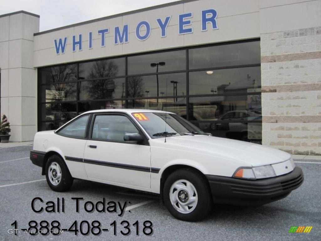 1991 White Chevrolet Cavalier Coupe #40879744 Photo #8 ...