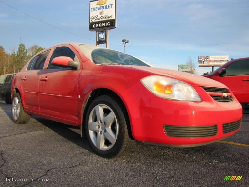 2007 Cobalt LT Sedan - Victory Red / Neutral Beige photo #1