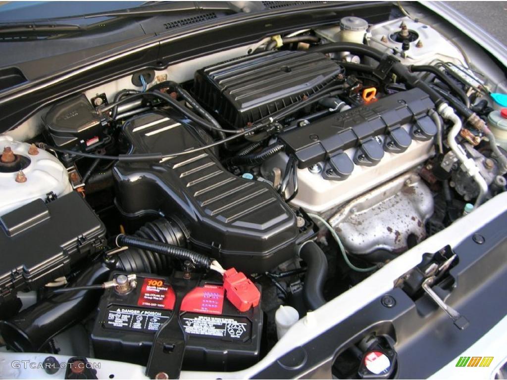 2002 honda civic ex sedan 1 7 liter sohc 16 valve 4 cylinder engine photo 40954953. Black Bedroom Furniture Sets. Home Design Ideas