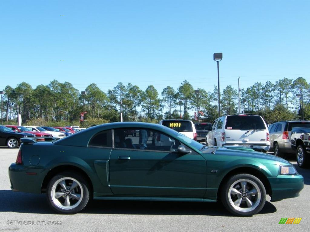 2002 Mustang GT Coupe - Tropic Green Metallic / Dark Charcoal photo #6