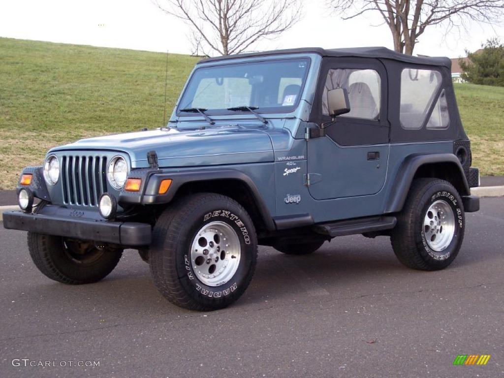 Gunmetal Pearl 1997 Jeep Wrangler Sport 4x4 Exterior Photo
