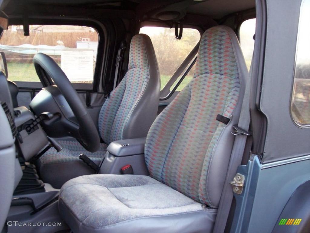 Gray Interior 1997 Jeep Wrangler Sport 4x4 Photo 40966932