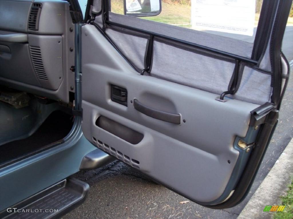 1997 jeep wrangler sport 4x4 gray door panel photo