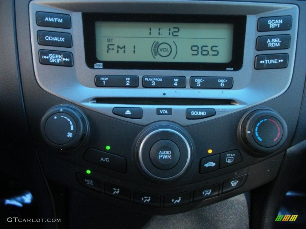 2007 honda accord value package sedan controls photo 40991629. Black Bedroom Furniture Sets. Home Design Ideas