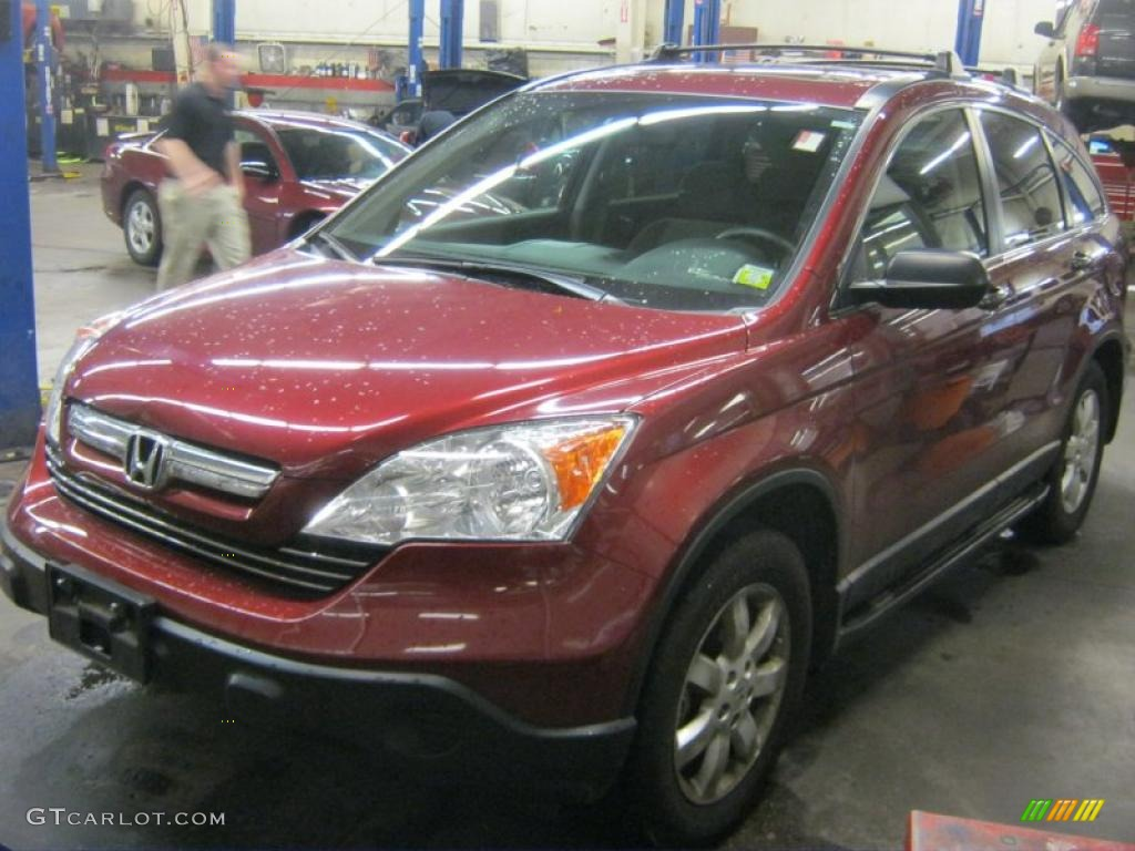 2009 CR-V EX 4WD - Tango Red Pearl / Gray photo #1