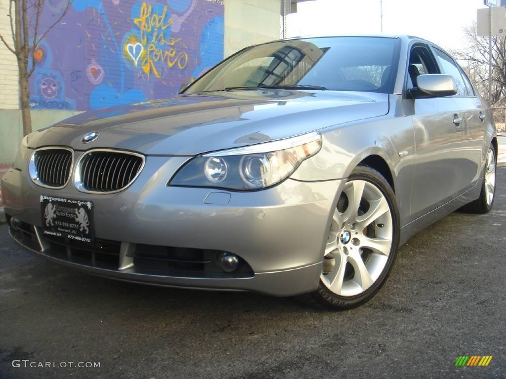 silver grey metallic 2005 bmw 5 series 545i sedan exterior photo 4100730. Black Bedroom Furniture Sets. Home Design Ideas