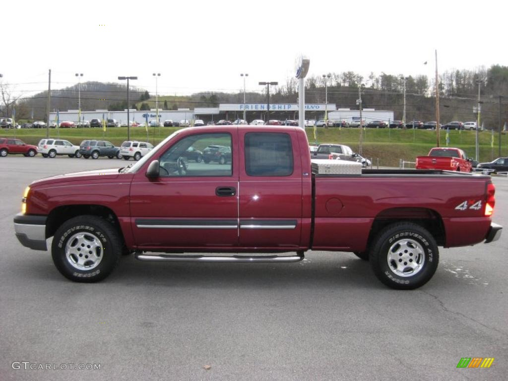 2004 sport red metallic chevrolet silverado 1500 ls. Black Bedroom Furniture Sets. Home Design Ideas