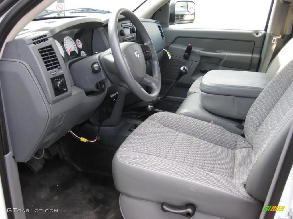 Medium Slate Gray Interior 2007 Dodge Ram 3500 ST Quad Cab 4x4 Dually ...