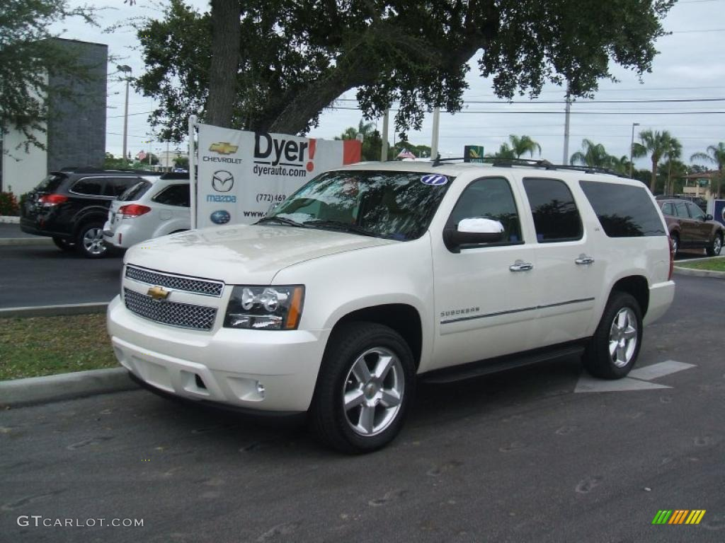 2011 white diamond tricoat chevrolet suburban ltz. Black Bedroom Furniture Sets. Home Design Ideas