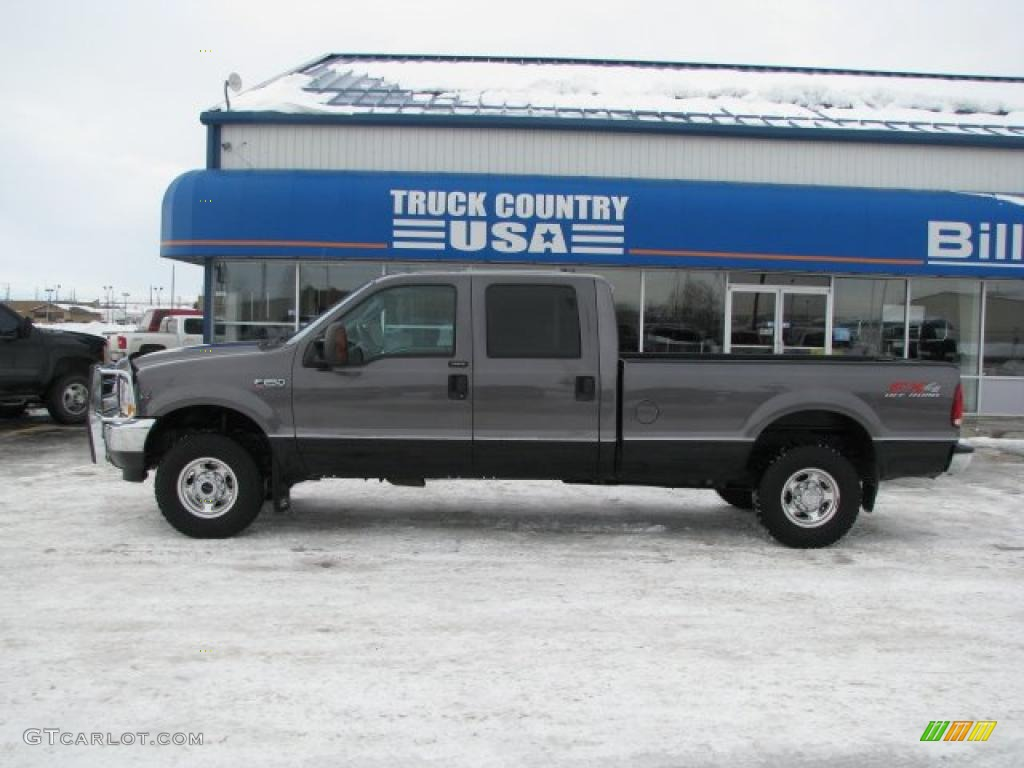 2004 F250 Super Duty Lariat Crew Cab 4x4 - Dark Shadow Grey Metallic / Medium Flint photo #1