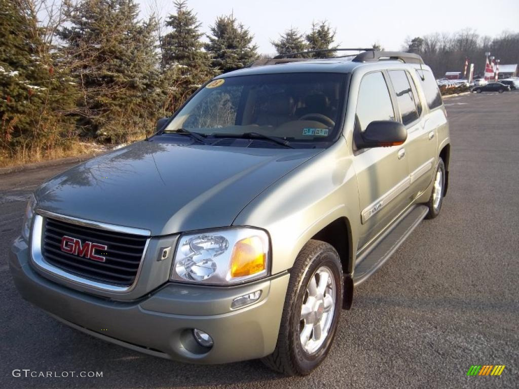 2003 silver green metallic gmc envoy xl slt 4x4 40962244. Black Bedroom Furniture Sets. Home Design Ideas