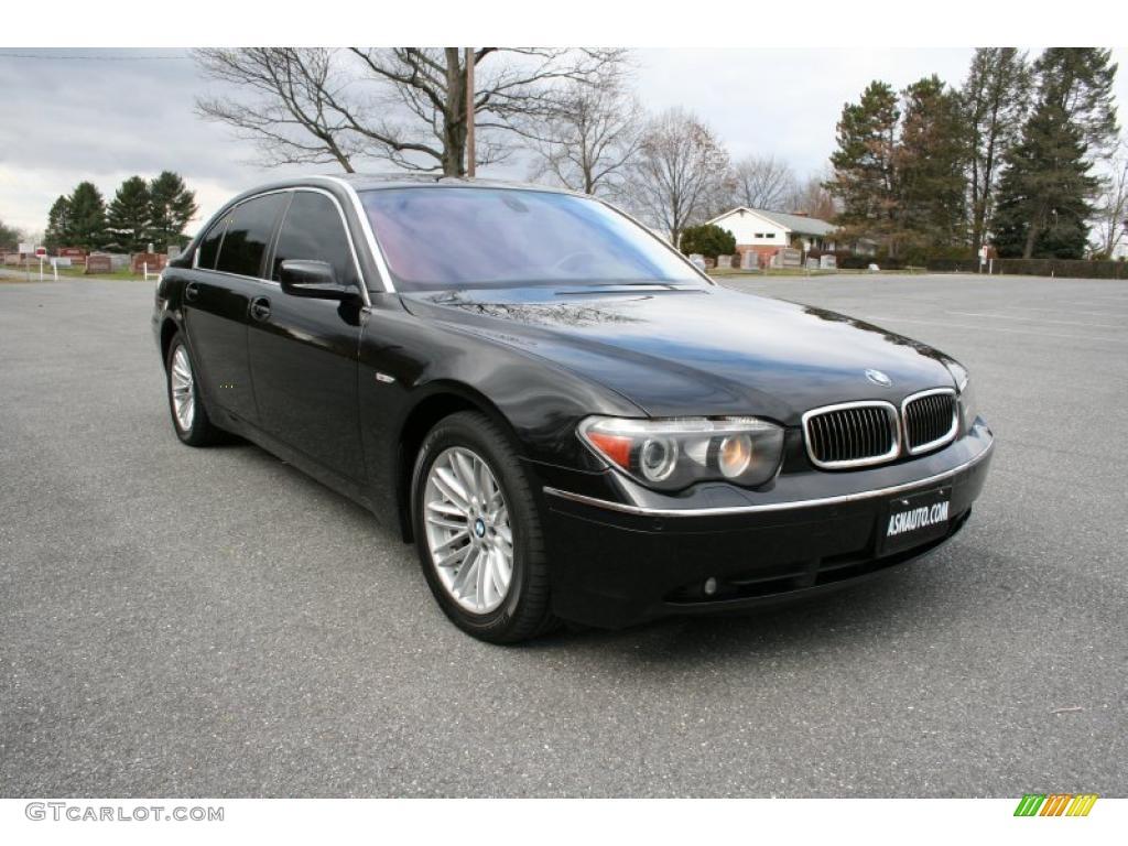 Bmw 2005 Black Jet Black 2005 BMW 7 S...