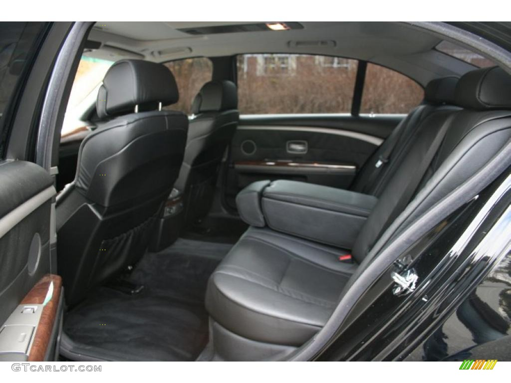 Black Interior 2005 BMW 7 Series 745Li Sedan Photo 41036556