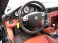 2007 Porsche 911 Black/Terracotta Interior Steering Wheel Photo