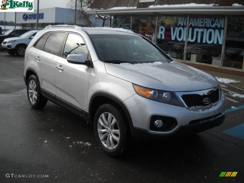 2011 Sorento EX AWD - Bright Silver / Gray photo #1