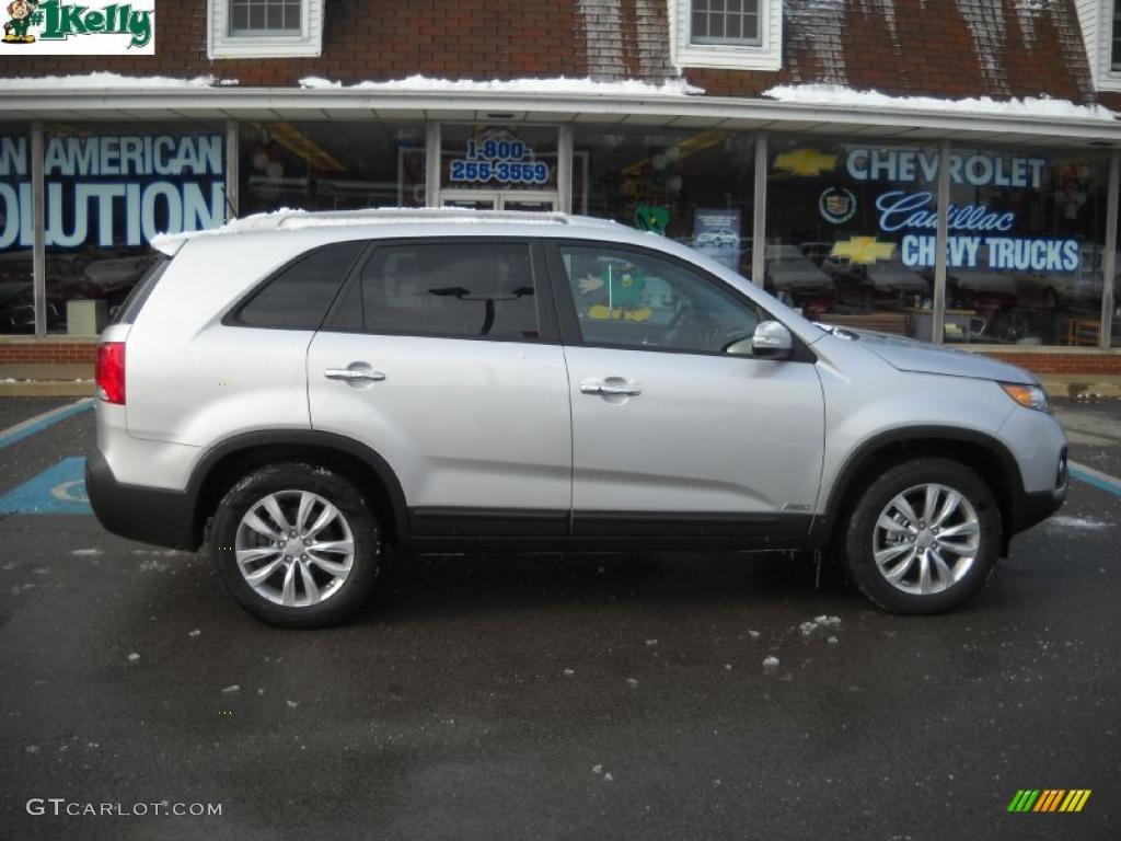 2011 Sorento EX AWD - Bright Silver / Gray photo #2