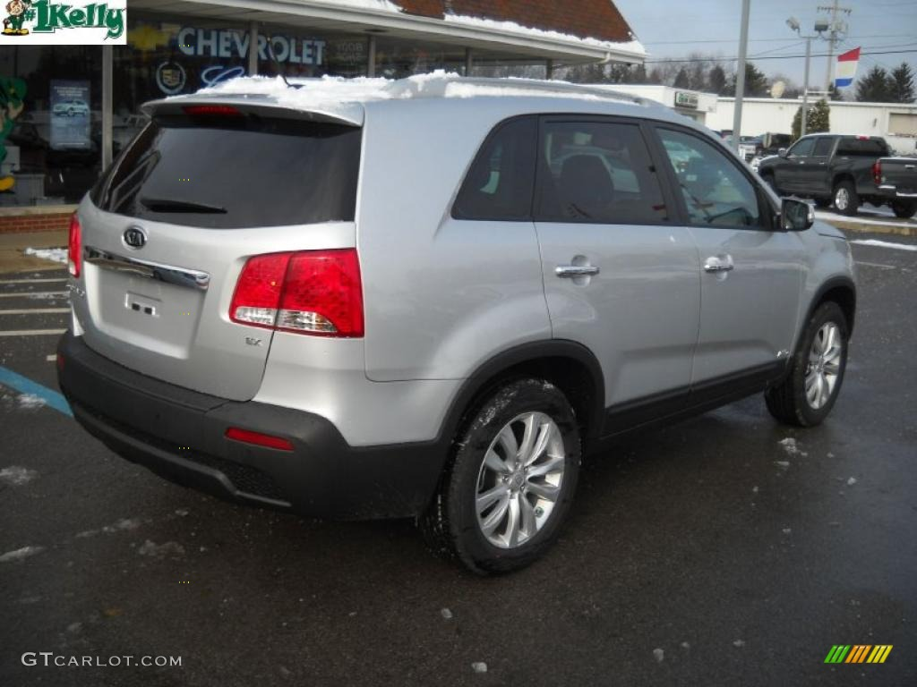 2011 Sorento EX AWD - Bright Silver / Gray photo #3