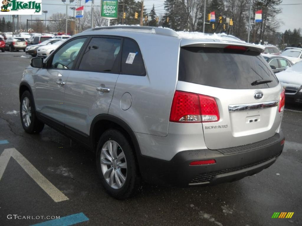 2011 Sorento EX AWD - Bright Silver / Gray photo #5