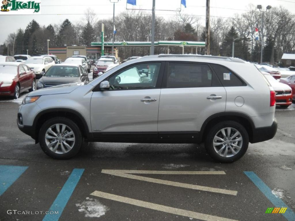 2011 Sorento EX AWD - Bright Silver / Gray photo #6