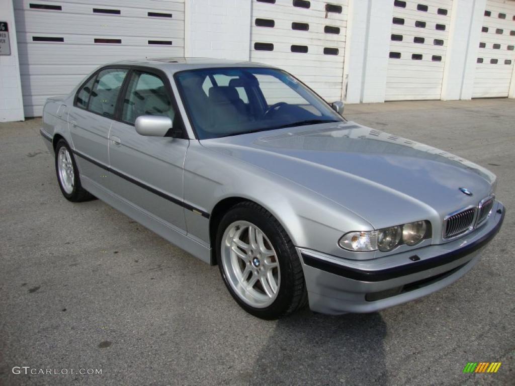titanium silver metallic 2001 bmw 7 series 740i sedan. Black Bedroom Furniture Sets. Home Design Ideas