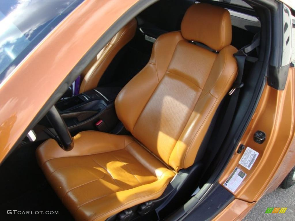 Burnt Orange Leather Interior 2006 Nissan 350z Touring Coupe Photo 41063587