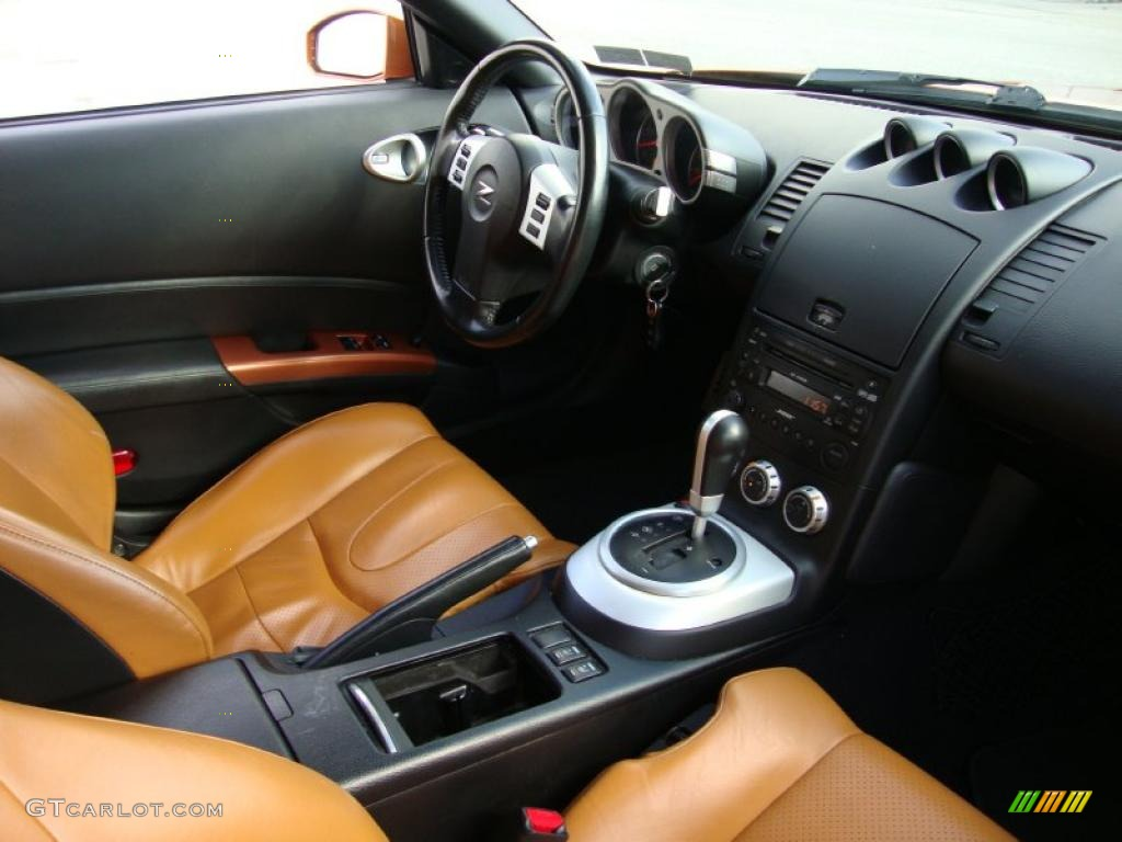 2006 Nissan 350z Touring Coupe Burnt Orange Leather Dashboard Photo 41063611 Gtcarlot Com